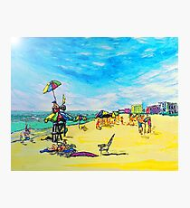 Beach art ... be23 Photographic Print