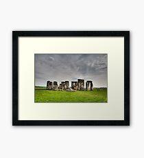 Stonehenge HDR Framed Print