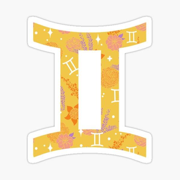 Gemini Floral Pattern - GOLD Sticker