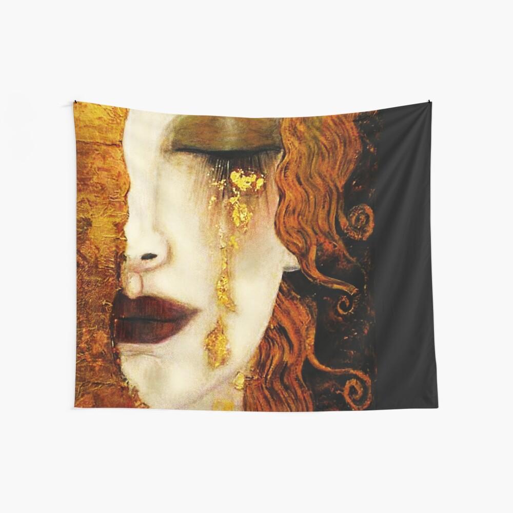 Klimt Golden Tears Wall Tapestry