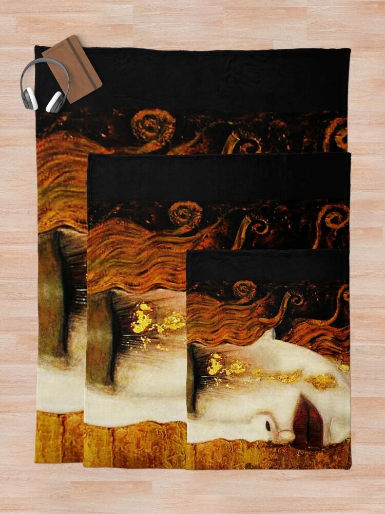 Alternate view of Klimt Golden Tears Throw Blanket