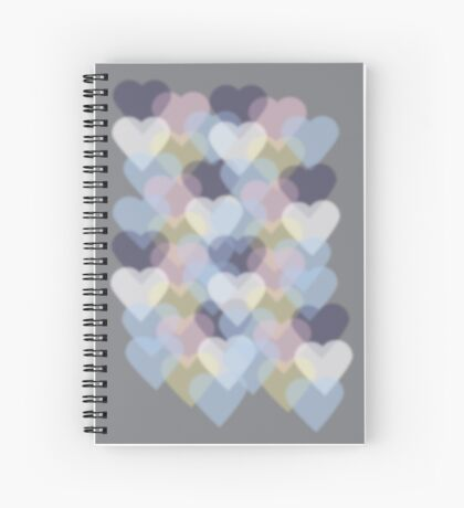 Bokeh Inspired Colorful Hearts Spiral Notebook