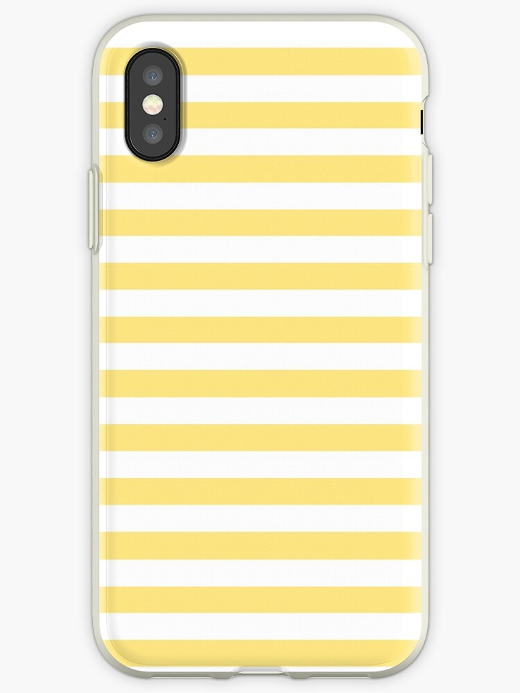 Yellow And White Horizontal Stripes by TDSwhite