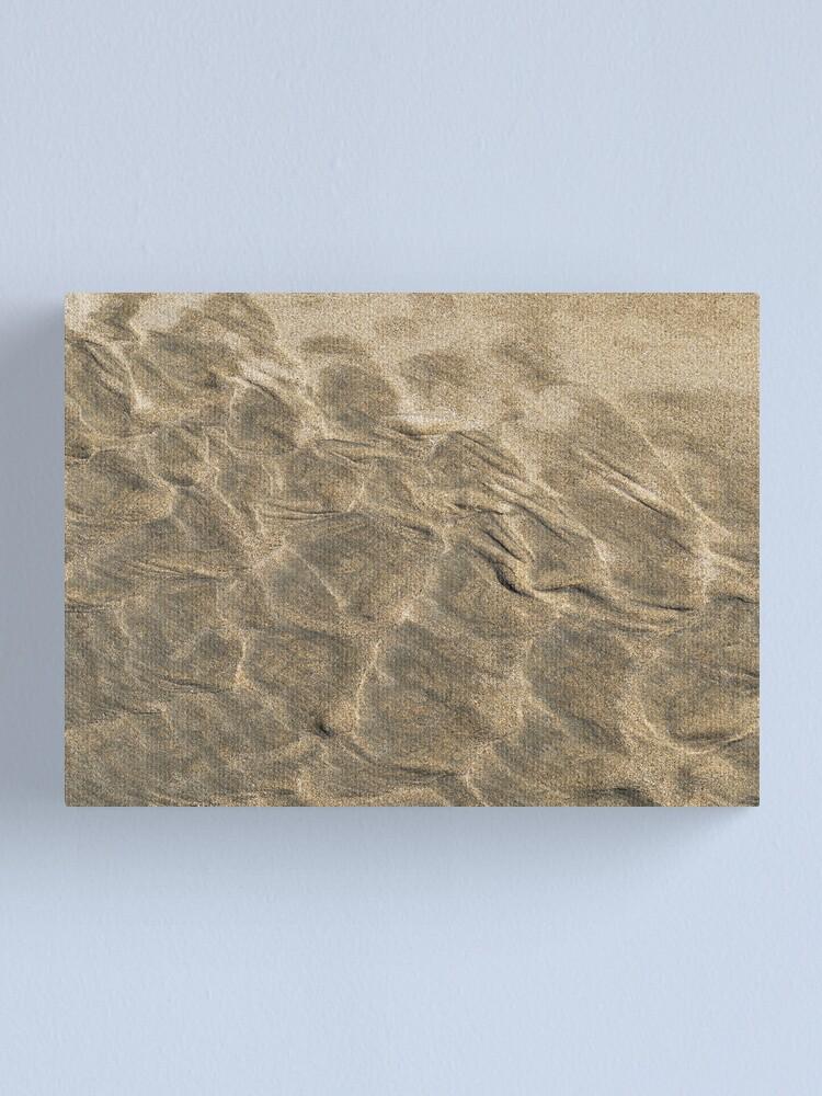 Alternate view of The beach - hippo skin Canvas Print