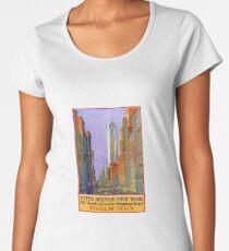 Camiseta premium para mujer Fifth AVenue New York: Vintage Travel Posters Series.