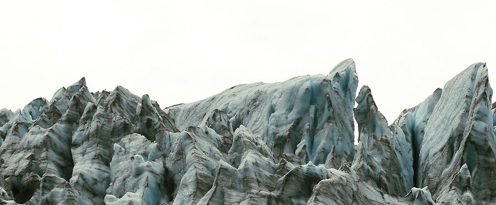 Glacier Ice on White Sky by middleofaplace