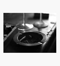Black & White Ashtray Photographic Print