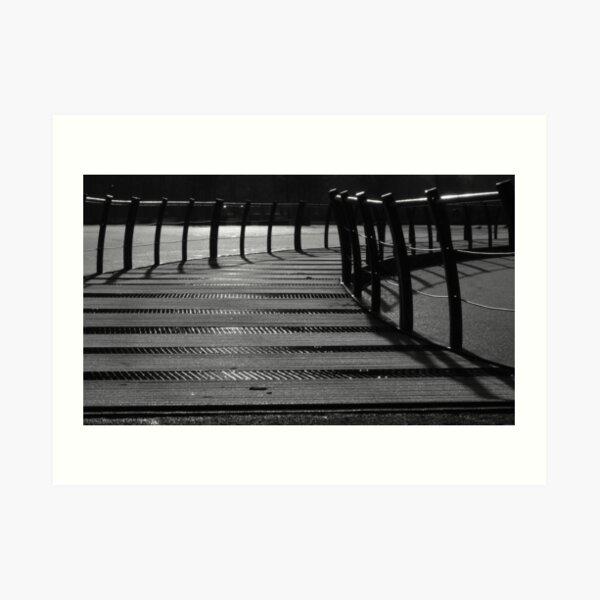 Floating Bridge 3 Art Print