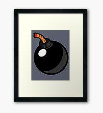 Cartoon Bomb Framed Print