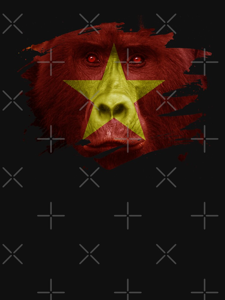 Vietnam Flag Gorilla Flag by ockshirts