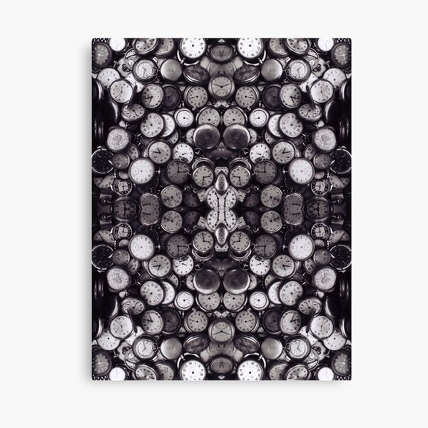 Monochrome old, antique, time, clock, pattern, abstract, dirty, design Canvas Print