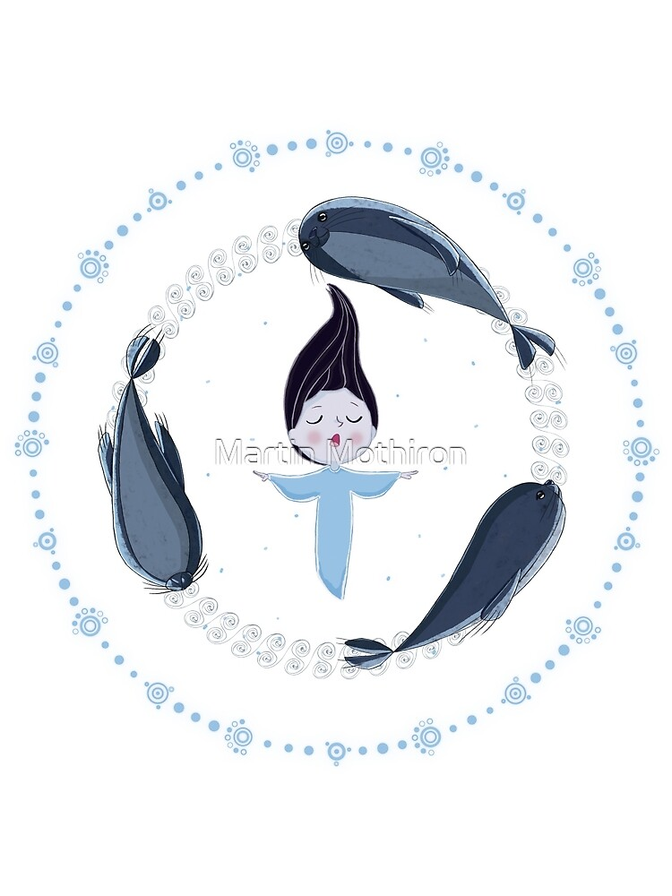 Song of the Sea - Selkie and seals - White version by Martin Mothiron