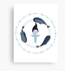 Song of the Sea - Selkie and seals - White version Canvas Print