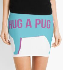 Hug a pug Mini Skirt