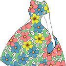 Parisienne - Summer dress with flowers by Ratherswell