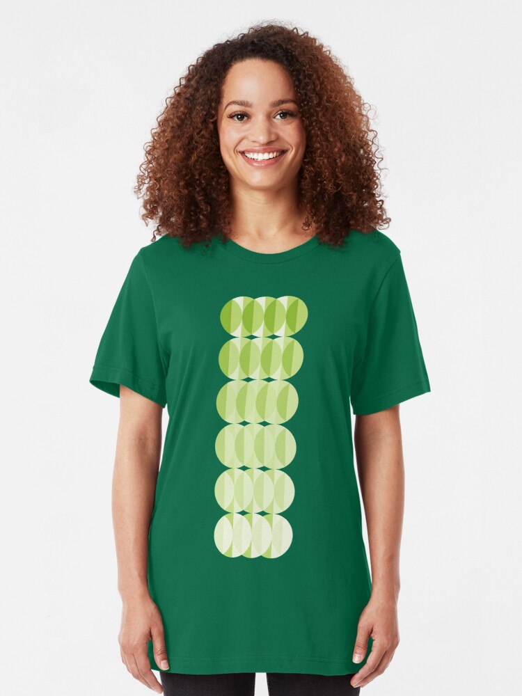Alternate view of Leaves at springtime - a pattern in green Slim Fit T-Shirt