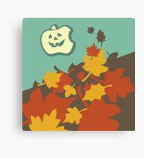 Autumn jack-o-lantern Canvas Print