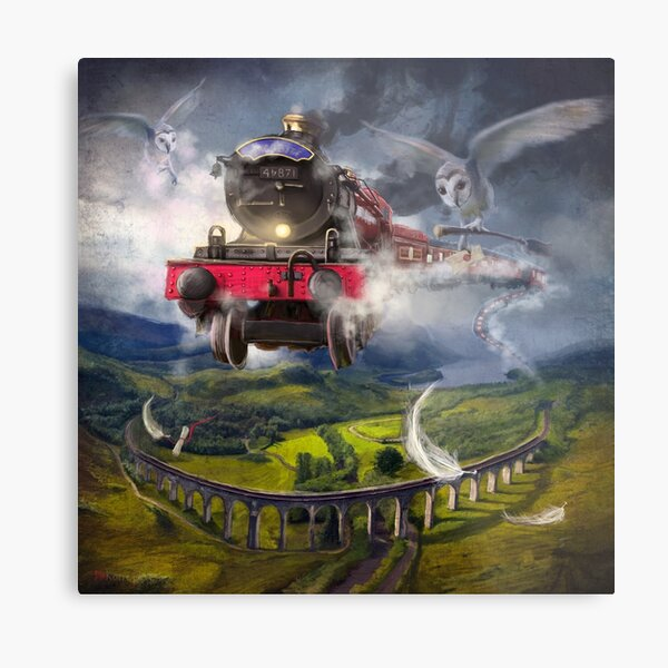 """The Glenfinnan Express"" Metal Print"