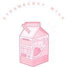 Erdbeermilch - Milchkarton Ästhetik von ourtinyinfinite