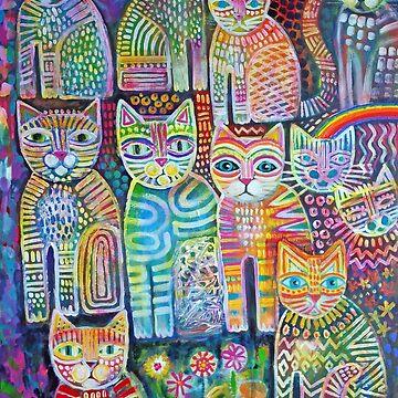 colourful cats  by karincharlotte
