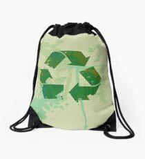 Reduce reuse recycle be green Drawstring Bag