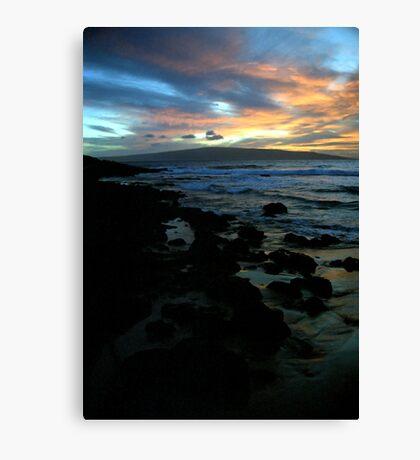 Makena Beach Sunset Canvas Print