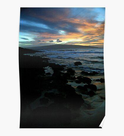 Makena Beach Sunset Poster