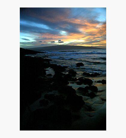 Makena Beach Sunset Photographic Print