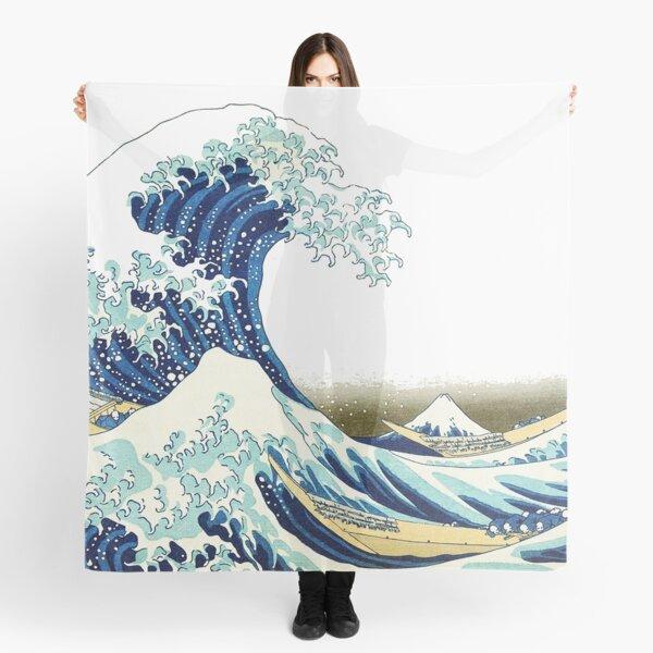 HOKUSAI. The Great Wave off Kanagawa, BRIGHTENED. Scarf