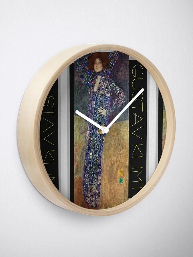 Alternate view of Art Nouveau Jugendstil by Gustav Klimt Clock