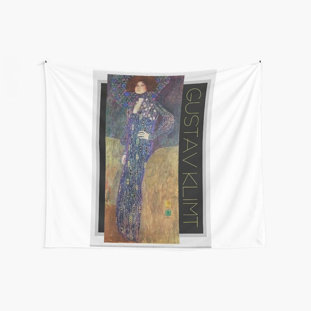 Art Nouveau Jugendstil by Gustav Klimt Wall Tapestry