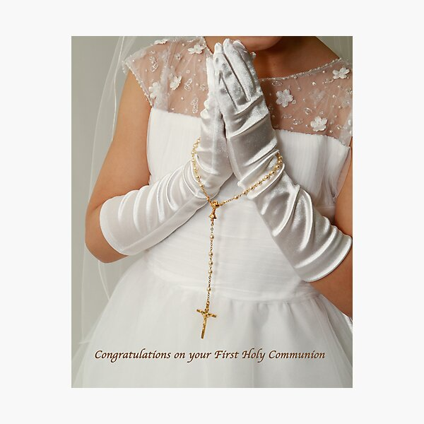 1st Holy Communion Photographic Print