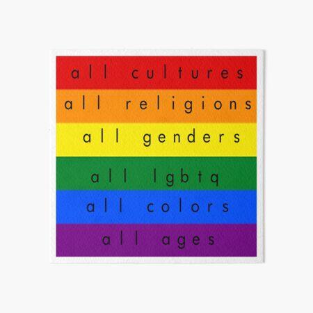 All-Inclusive LGBTQ Art Board Print