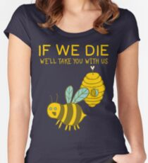 Save The Bees T Shirt Women's Fitted Scoop T-Shirt