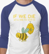 Save The Bees T Shirt Men's Baseball ¾ T-Shirt