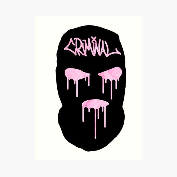 Ski Mask Art Print By Woesofwoa Redbubble