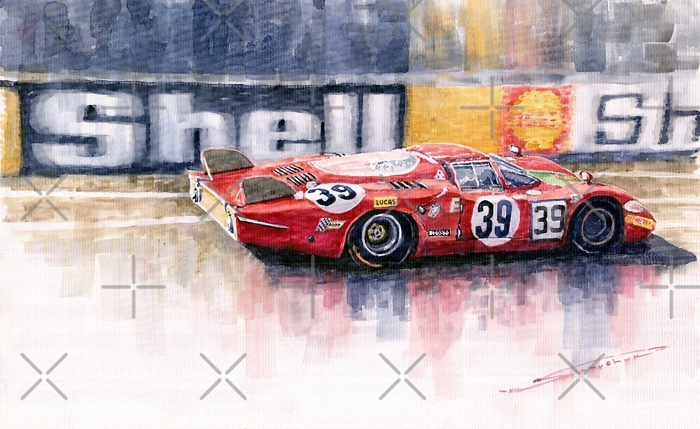 Alfa Romeo T33 B2 Le Mans 24 1968 Galli Giunti by Yuriy Shevchuk