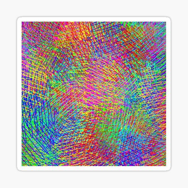 RGB Abstraction Sticker