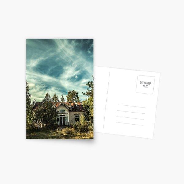 Old House Sky Postcard