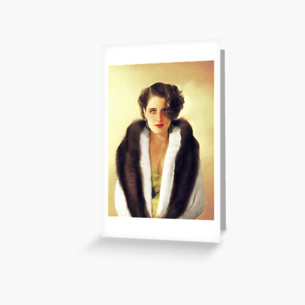 Norma Shearer, Vintage Actress Greeting Card