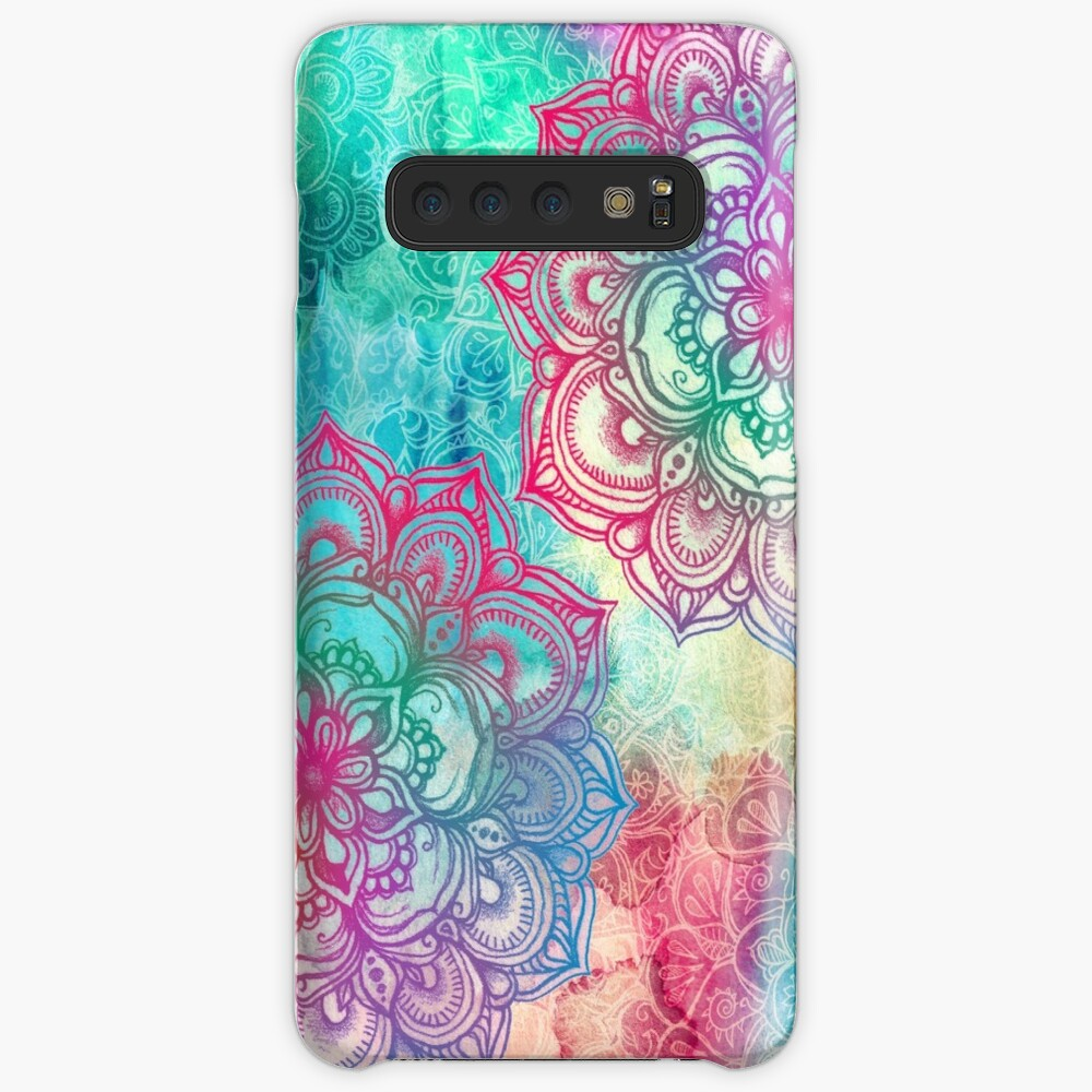 Round and Round the Rainbow Case & Skin for Samsung Galaxy