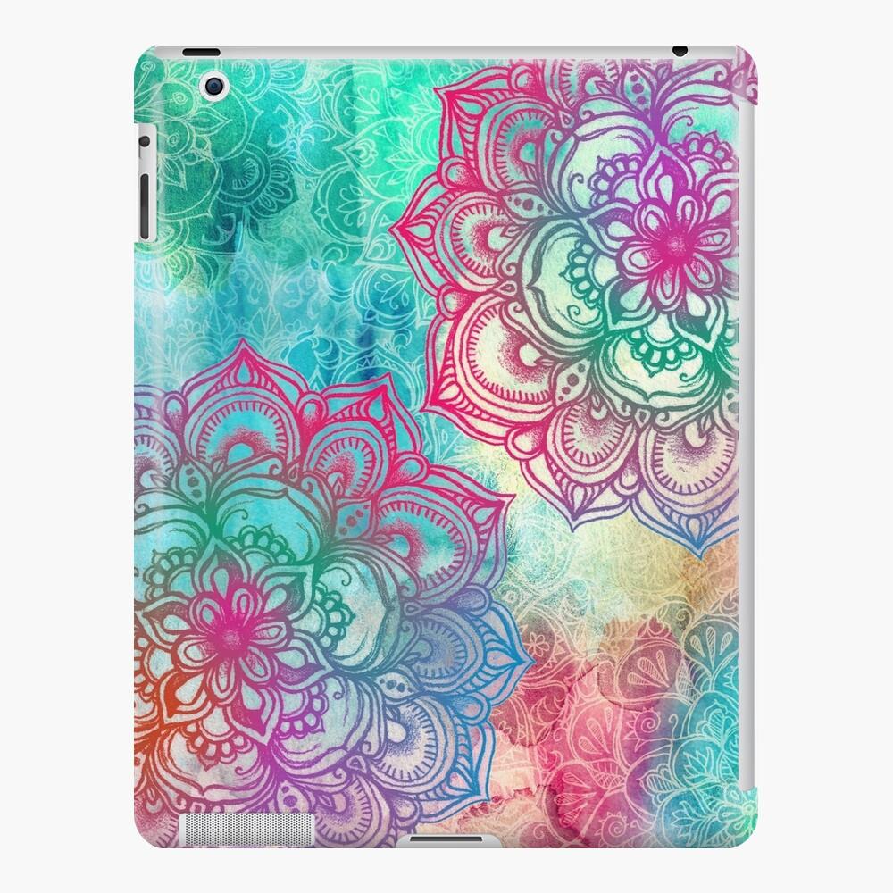 Redondea y redondea el arcoíris Funda y vinilo para iPad