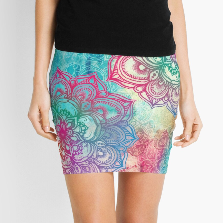 Round and Round the Rainbow Mini Skirt
