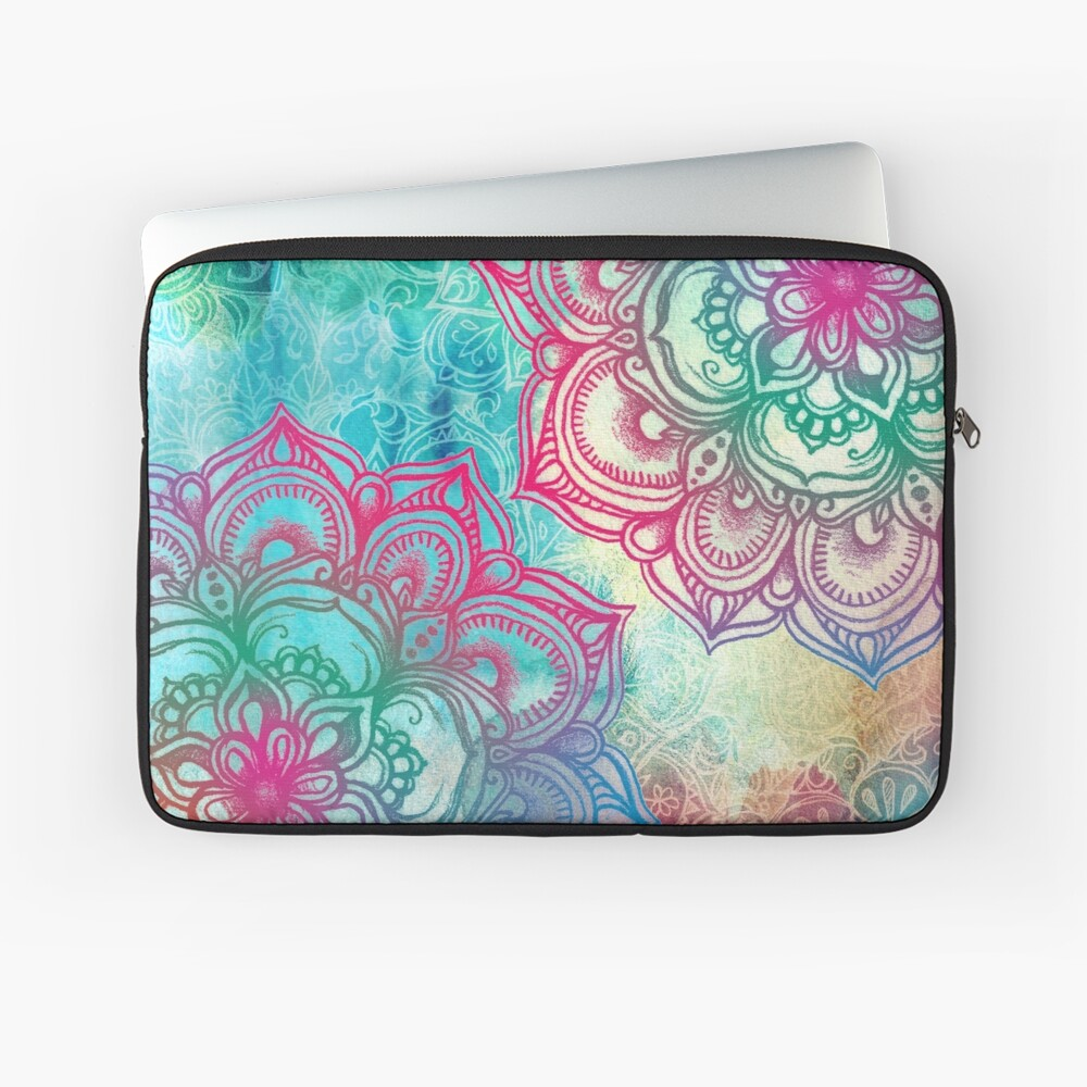Round and Round the Rainbow Laptop Sleeve