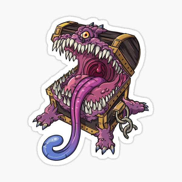 Nerdy Mimic Dungeons and Dragons Monster Sticker
