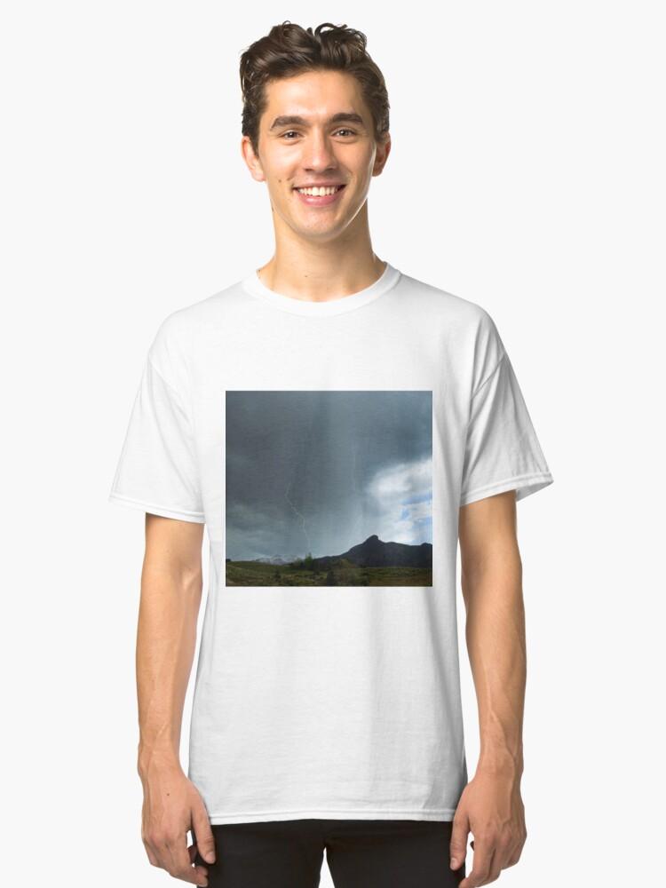 Lightning Around Ptarmigan Mountain Classic T-Shirt Front