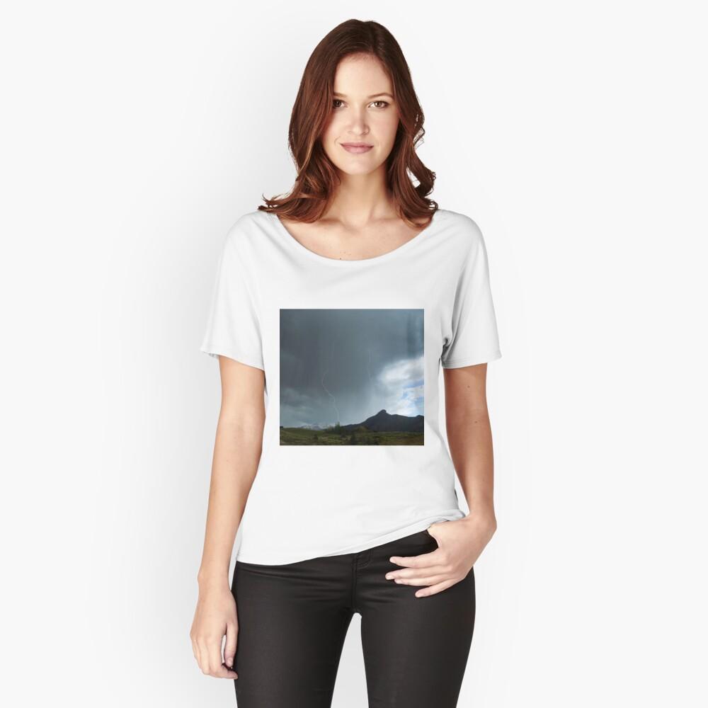 Lightning Around Ptarmigan Mountain Women's Relaxed Fit T-Shirt Front