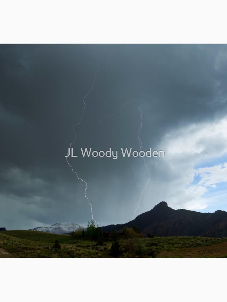 Lightning Around Ptarmigan Mountain by JLWoody15Wooden