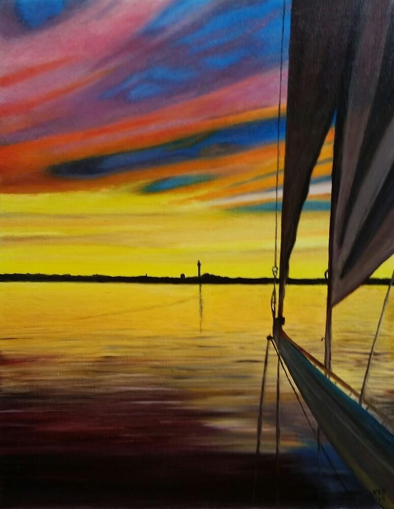 Sailing Into Ptown by Ken Pratt