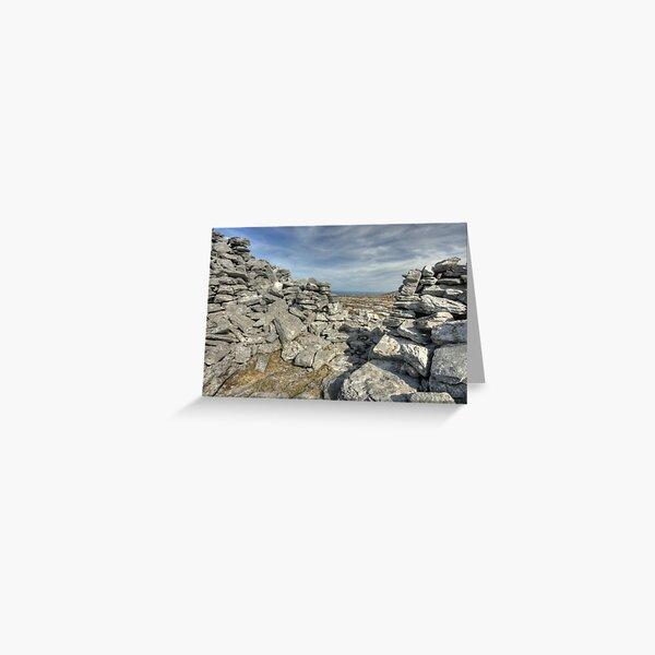 Caherdooneerish Stone fort Greeting Card